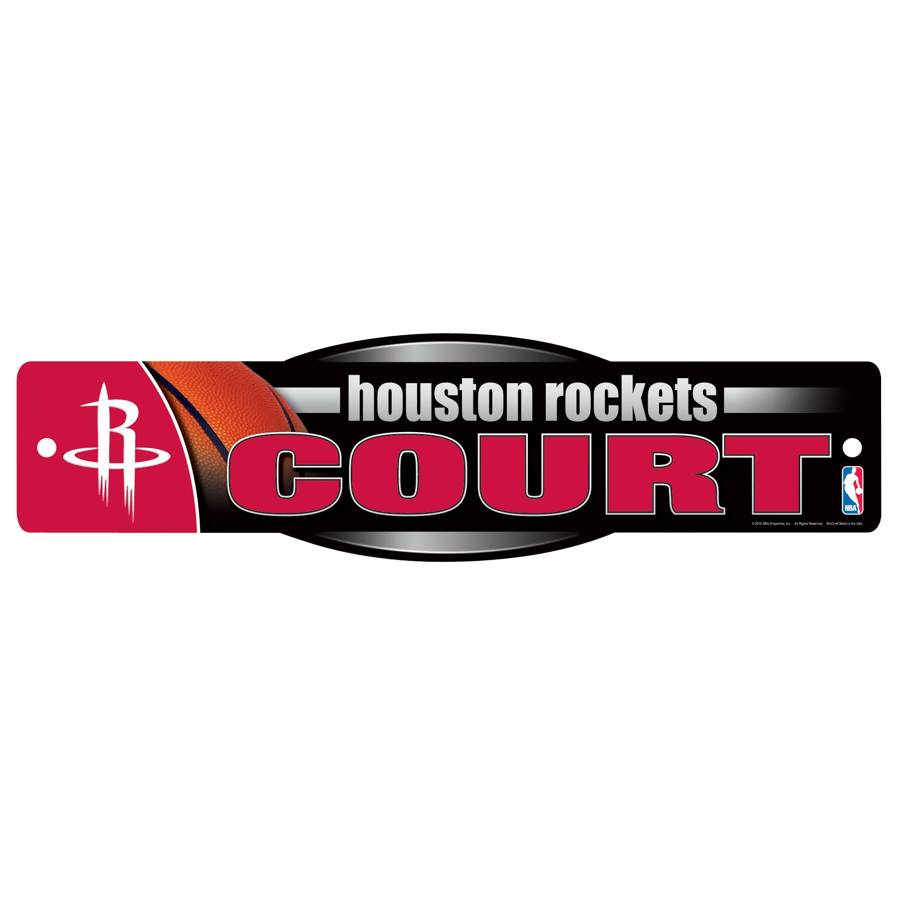 WinCraft NBA Houston Rockets Sign, 4.5 x 17-Inch