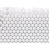 Makeup Beads for Brushes, Art Faux Pearls, HBlife 1300-Piece Round Pearl Beads to Hold Makeup Brush, Lipstick, Mascara, Eyeliner, 8mm (White)