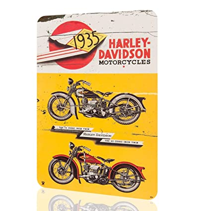 Amazon Com Metal Tin Sign Harley Davidson 1935 Motorcycles Classic