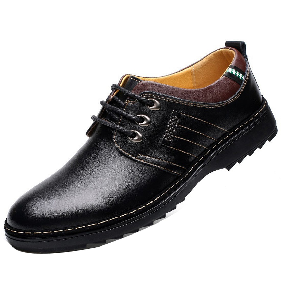 Men's Synthetic Leather Lace-up Oxfords Shoes Dress Shoes Formal Leather Shoes Casual Classic Brogue Shoes