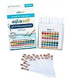 pH Teststreifen (100 Stück) für Trinkwasser; detaillierter Messbereich von 4,5 – 9; einfach, schnell und präzise; Original pH Wert Teststreifen von Aquaself