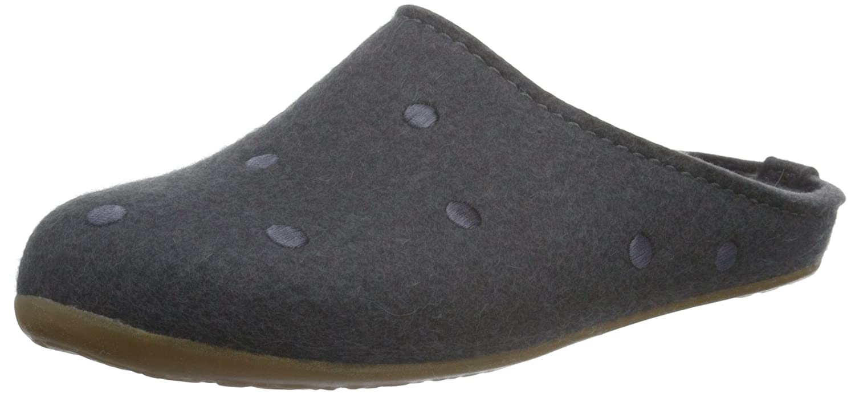 Haflinger Unisex-Erwachsene Noblesse Pantoffeln, Grau (Asphalt 58), 42 EU