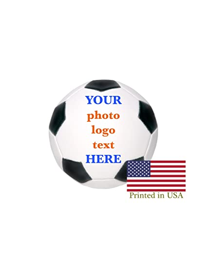 Amazoncom Custom Personalized Full Size Soccer Ball Ships In 3