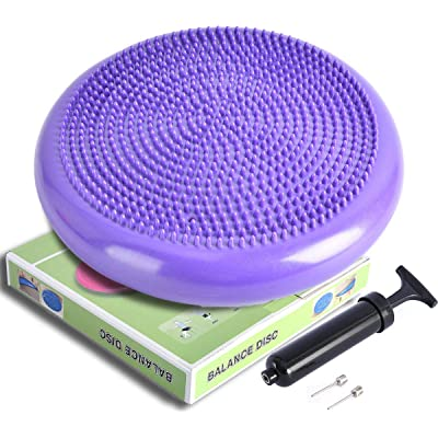 Balance Disc Wobble Air Cushion Stability Core Trainer Sensory Wiggle Seat Grey