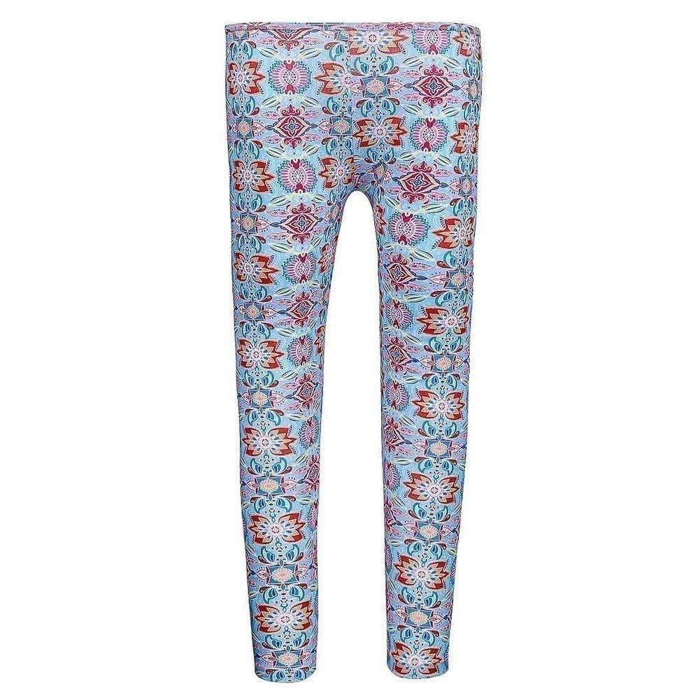 Sun Emporium Big Girls Milkshake Pink Summer Daze Print Leggings 8-12