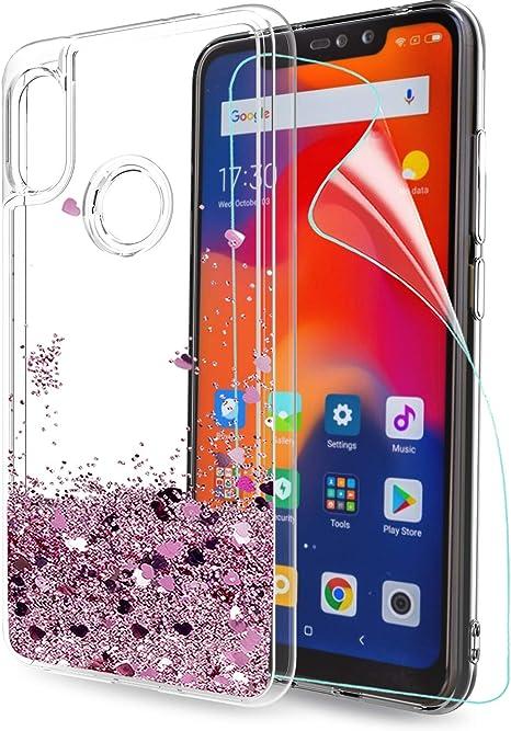 LeYi Funda Xiaomi Redmi Note 6 Pro Silicona Purpurina Carcasa con ...