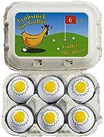 """Lustiges Golfgeschenk / Ostergeschenk """"Frühstück für Golfer"""" 6 witzige Golfbälle in der Eierverpackung"""