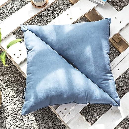LJBOZ Almohada de algodón de Color Liso, Almohada Cuadrada ...