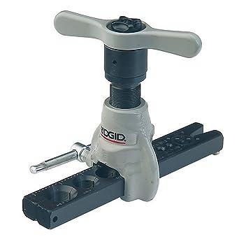 RIDGID 83037 458R Herramienta de abocinado a 45° tipo trinquete SAE extendida para tuberías de