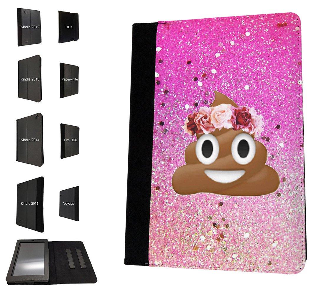 002414 - Emoji Smiley Face Floral Poo Princess Design