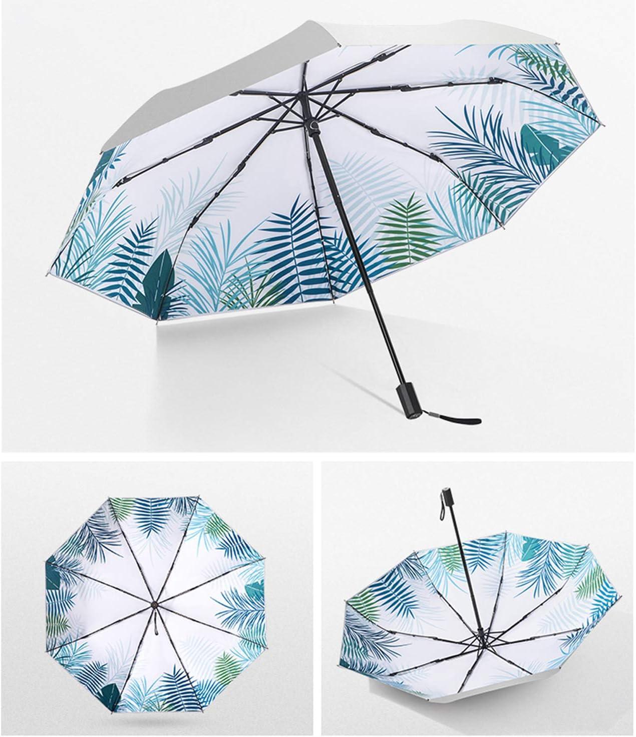 Galat/ée Parapluie Pliant UV Protection Rev/êtement Argent Titane Mini Parapluie de Poche Parapluie L/éger Compact Parapluie Coupe-Vent Parapluie pour Femme Avaler