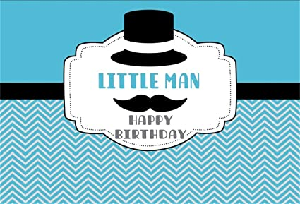 AOFOTO 6x4ft Little Man Happy Birthday Background Boy Party Decor Photography Backdrop Abstract Beard Moustache Whisker