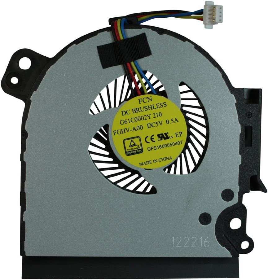 Power4Laptops Replacement Laptop Fan for Toshiba Tecra A50-C-17C, Toshiba Tecra A50-C-17E, Toshiba Tecra A50-C-19X, Toshiba Tecra A50-C-1D7, Toshiba Tecra A50-C-1D8