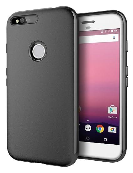 save off d51ce fa4f8 Google Pixel Case, Cimo [Matte] Premium Slim Protective Cover for Google  Pixel (2016) - Black