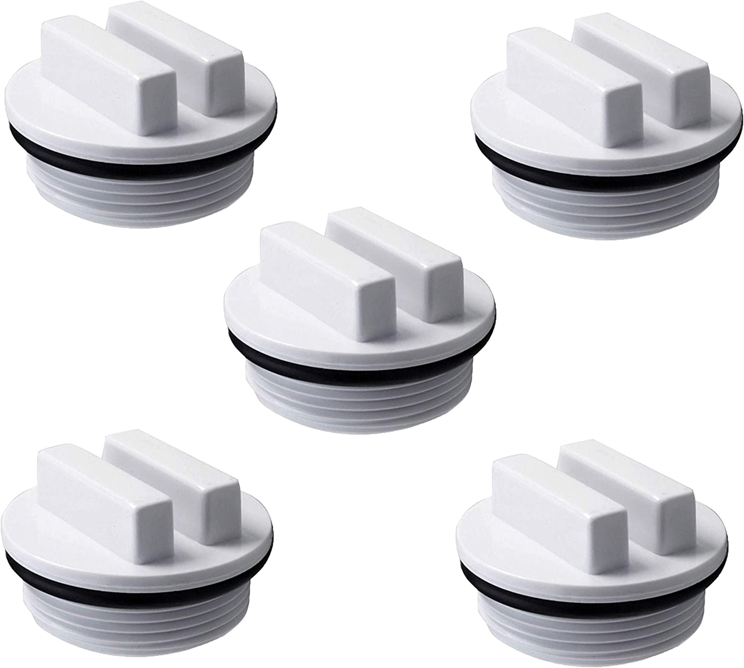 """ATIE PoolSupplyTown 1.5"""" Pool Spa Threaded Filter Drain Winter Plug w/O-Ring Replace for Hayward Filter Drain Winter Plug (5 Pack)"""