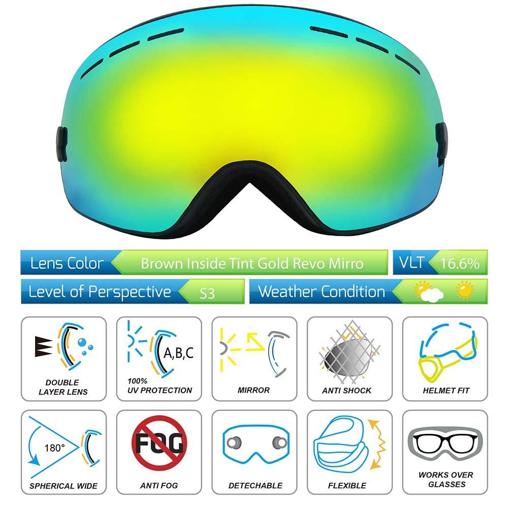 bccb031a2d9 Amazon.com   Skiing Goggles
