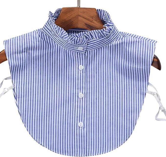 LEEleegang Mujer Nueva Moda Camisa con cuello de encaje de ...