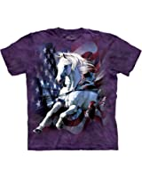 The Mountain Patriotic Breakthrough Horse Adult T-Shirt