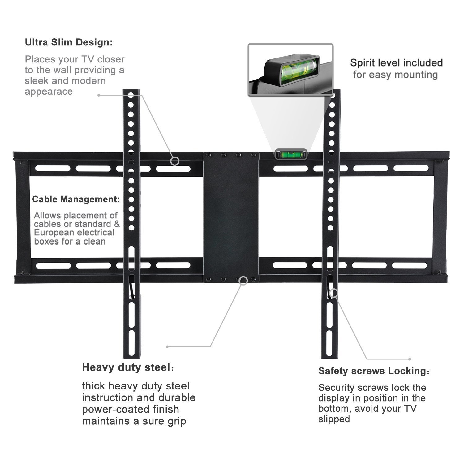 Low profile fixed tv wall mount bracket for 32 75 samsung sony low profile fixed tv wall mount bracket for 32 75 samsung sony vizio lg sharp panasonic led lcd oled plasma flat screen tvs only 1 from the wall pooptronica