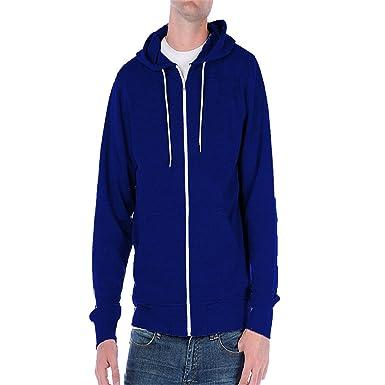 Home ware outlet - Sudadera de cremallera con capucha, para hombre negro azul real XXX-Large: Amazon.es: Ropa y accesorios