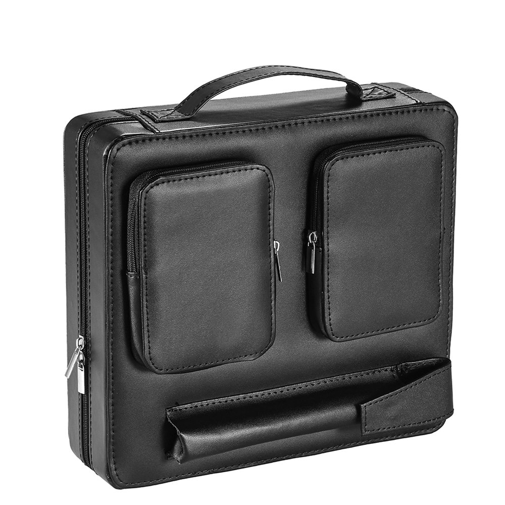 MITIME Cigar Humidor, Cigar Case, Spanish cedar Genuine leather Travel Portable Cigar Humidor with Humidifier.