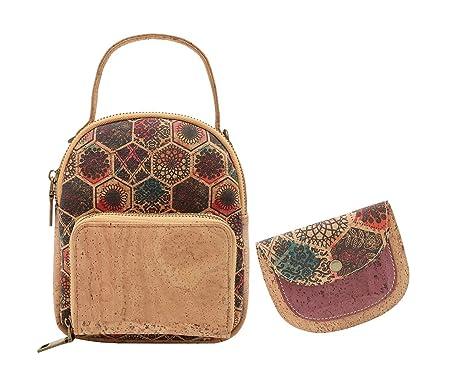 f7832c3ff MenKai - Mini Bolso/Mochila de Corcho. Incluye Monedero. Diseño único y  Original
