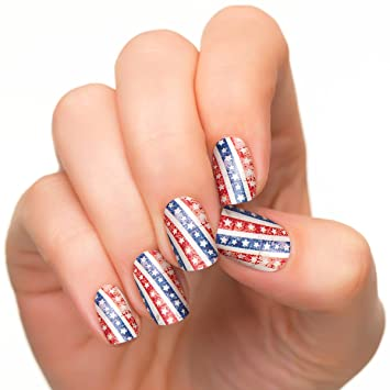 Amazon Incoco Nail Polish Strips American Flag Nail Art Star