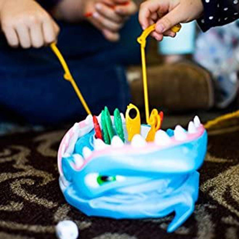 Funmix Juego de Mesa de Pesca,Juego de Mesa de Pesca con mordedura de tibur/ón,Pesca Antes del Juego De Mordedura De Tibur/ón,Juegos Interactivos De Escritorio Play House Tricky Toys