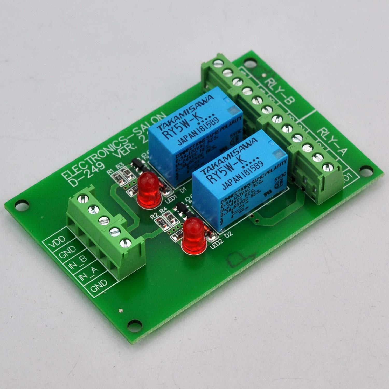Electronics Salon 2 Dpdt Signal Relay Module Board Dc 5v Version 12 Volt Spdt Datasheet For Arduino Raspberry Pi 8051 Pic Industrial Scientific