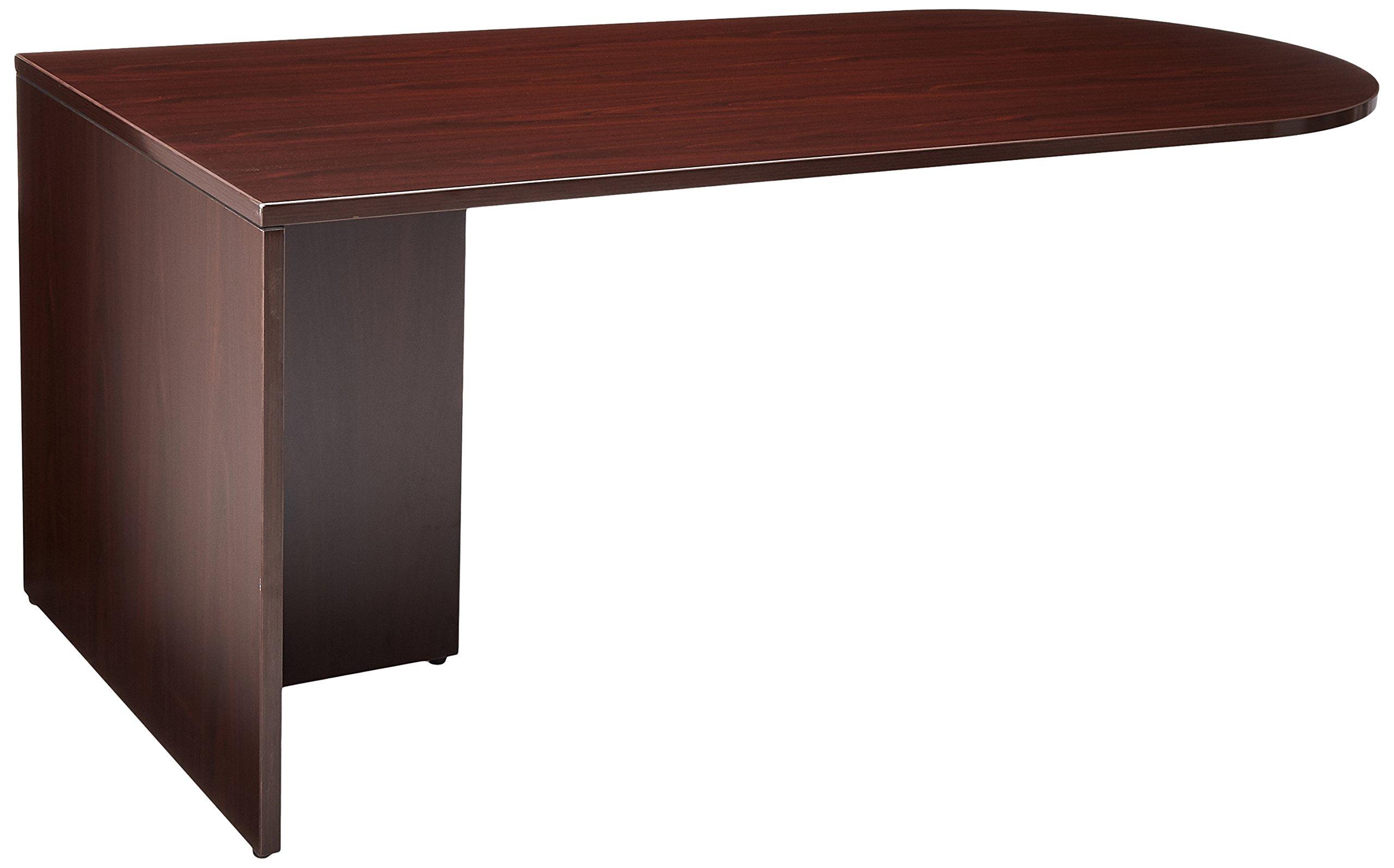 Lorell LLR69379 69000 Series Desk, Mahogany
