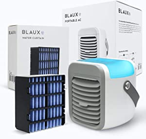 BLAUX Portable AC G1 and Water Curtain Bundle - Portable Air Conditioner For Cooling | Indoor Air Conditioner and Portable A/C For Travel | Energy Efficient Personal AC Unit Combo