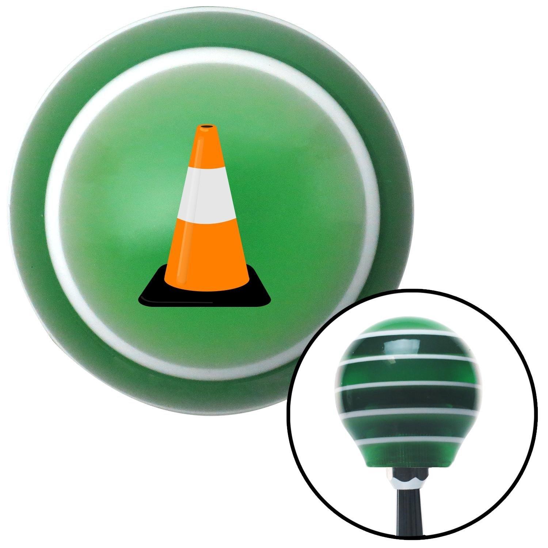Traffic Cone American Shifter 121568 Green Stripe Shift Knob with M16 x 1.5 Insert