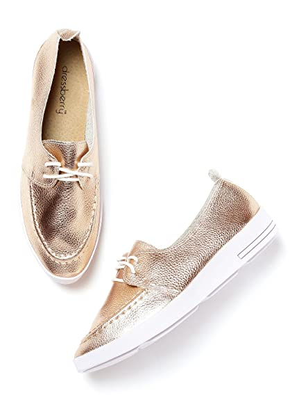 b14cc8b53053 DressBerry Women Rose Gold-Toned Casual Shoes (6UK)  Buy Online at ...