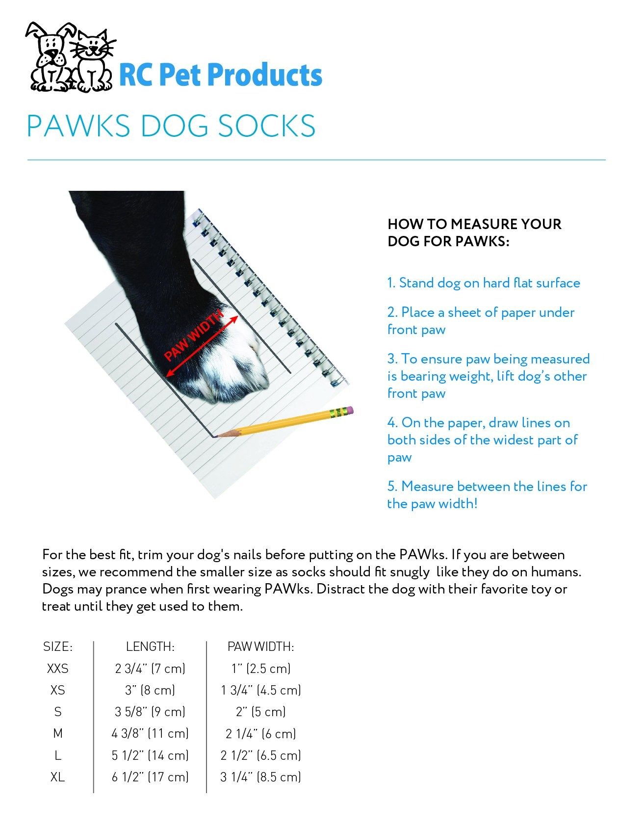 RC Pet Products PAWks Dog Socks, Large, Purple Sneakers