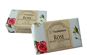 Touch Nature Rose Handmade Soap with French Red Clay Added. All Natural. Moisturizing. No SLS and Parabens. (2pc 100gm)