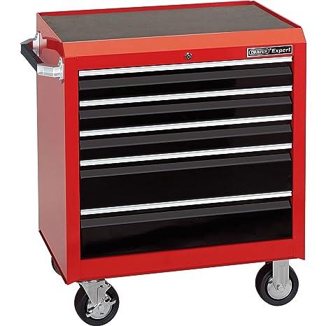 Draper 43751 – 5 cajones Armario con ruedas para herramientas, color rojo