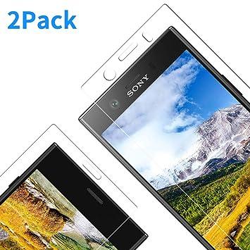Vkaiy Protector de Pantalla para Sony Xperia XZ1 Compact, Cristal Vidrio Templado Premium [2.5d Borde] [9H Dureza] [Sin Burbujas] para Sony Xperia XZ1 ...