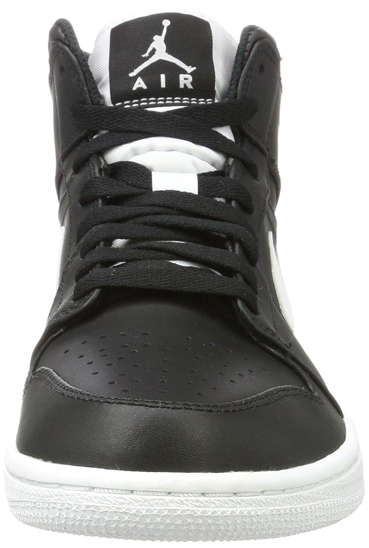 258da02446b Amazon.com  Nike Men s Air Jordan 1 Mid Basketball Shoe Cool Black White- White 10.5  Sports   Outdoors