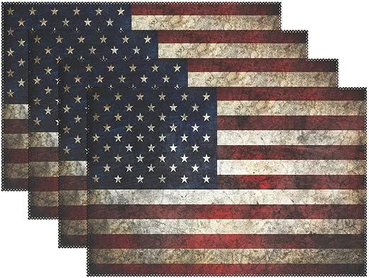 "Set of 3 ANTIQUED PATRIOTIC AMERICANA BARN STARS 3.5/"" RUSTIC AMERICAN FLAG"
