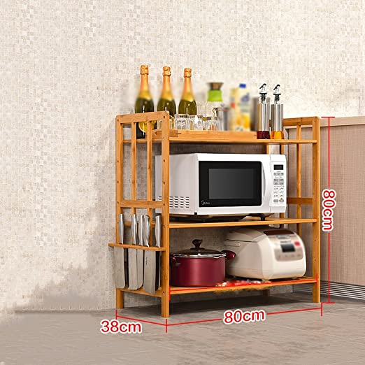 GYP Cocina Racks, Bambú Madera Utilidad Simple Moderna Cocina Baño ...