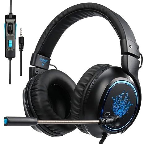 Auriculares PS4, SADES R5 Xbox One Mic Gaming Headset Auriculares para Juegos con micrófono Xbox