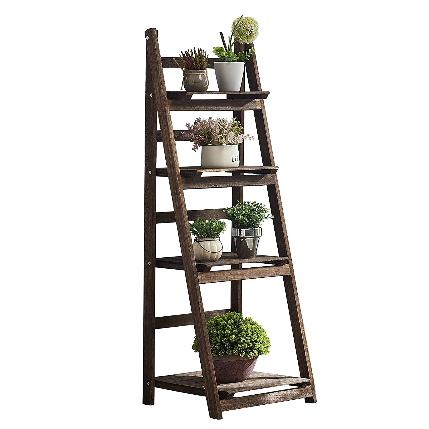 Amazoncom Rhf Foldable Ladder Shelf Plant Stand Indoor Flower