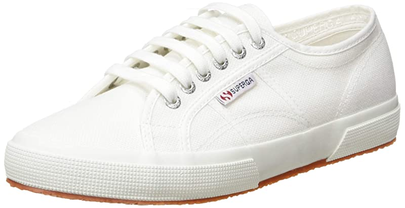 Superga 2750 Cotu Classic Sneakers Low-Top Unisex Damen Herren Weiß