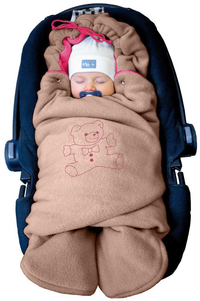 R/ömer Autositz Universal f/ür Babyschale z.B Farbe:Beige f/ür Kinderwagen ByBoom Buggy oder Babybett f/ür Maxi-Cosi Baby Winter-Einschlagdecke Das Original mit dem B/ären