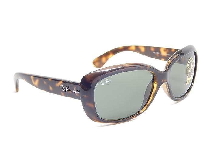 df4b15046ea Amazon.com  Ray Ban Jackie OHH RB4101 710 Tortoise Green Classic 58mm  Sunglasses  Clothing