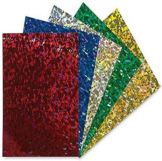 A4 x6 Tarjeta De Brillo Niños crear hojas de Artesanía Tarjeta X 6 Artesanía Cardmaking