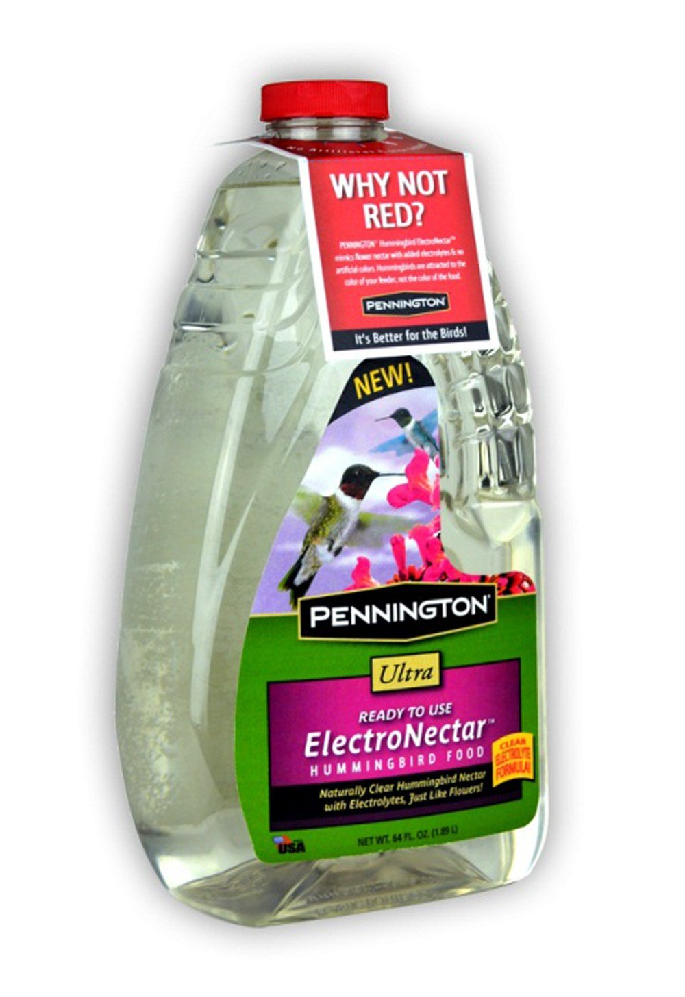 Pennington Electro Nectar Clear Hummingbird Food Ready To Use, 64 oz CENTRAL Garden & Pet 100510152