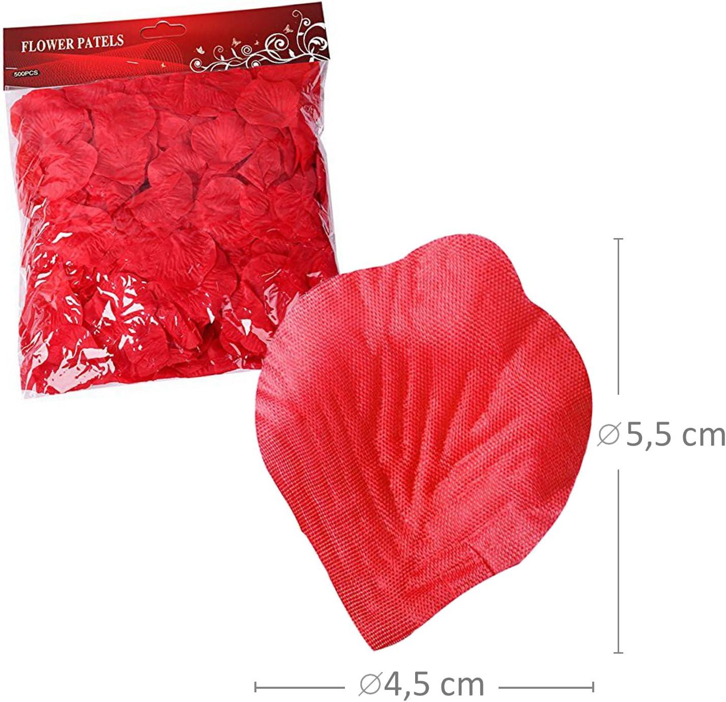0346 S//o 1000er de p/étales de rose rouge p/étales de roses fleurs artificielles feuillage seidenblumen