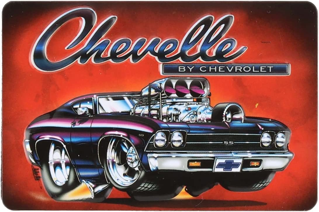 Open Road Brands Chevrolet Chevelle Tin Metal Magnet - an Officially Licensed Product Great Small Gift and Addition to Add What You Love to Your Home/Garage Decor