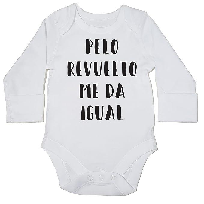 HippoWarehouse Pelo Revuelto Me Da Igual momento body manga larga bodys pijama niños niñas unisex